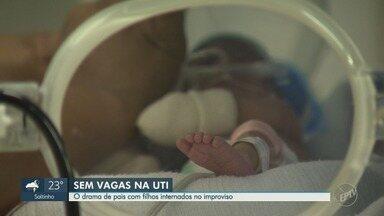 Bebês são internados em leitos improvisados no Hospital Municipal Mário Gatti, em Campinas - Com a UTI lotada, três bebês estão internados em leitos improvisados no Hospital Municipal Dr. Mário Gatti, em Campinas (SP), nesta segunda-feira (15).