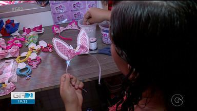 Artesãos produzem lembranças para período de Páscoa - O dinheiro extra ajuda no orçamento doméstico