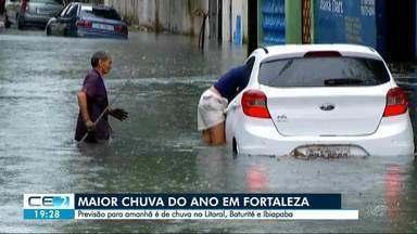Fortaleza tem a maior chuva de 2019 - Foram 148 milímetros entre domingo e esta segunda-feira