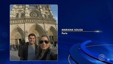 Sorocabana presencia incêndio na catedral de Notre Dame em Paris - A advogada Mariana Souza e o marido faziam fotos em frente à catedral quando viram a fumaça que vinha da parte de trás da igreja. O casal chegou hoje à Paris, sendo a catedral o primeiro ponto turístico que conheciam.