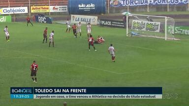 Toledo sai na frente e chega com vantagem para a grande final do Paranaense - Athlético perdeu de 1 a 0 no oeste do Estado.