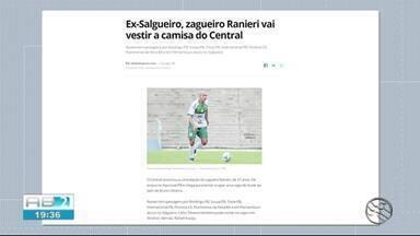 Central anuncia novas contratações para Série D do Brasileiro - Uma das novidades é Ranieri de 37 anos.