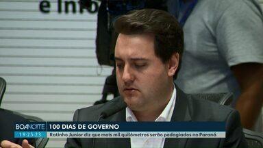 Ratinho Junior diz que mais mil quilômetros serão pedagiados no Paraná - O governador ainda disse que não haverá reajuste para os servidores estaduais.