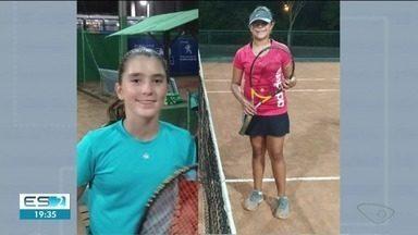 Capixabas são campeãs no tênis e devem disputar a Copa das Federações - Aline Lema e Luiza Riguete foram bi-campeãs infanto juvenis neste fim de semana.
