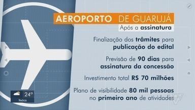 Aeroporto de Guarujá pode começar a funcionar em um ano - Ministério da Infraestrutura autorizou a Prefeitura de Guarujá à conceder à iniciativa privada o Aeroporto Civil Metropolitano localizado nas antigas instalações da Base Aérea de Santos.