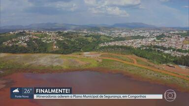Mineradoras da região de Congonhas vão aderir a plano municipal de segurança - A população do município é cercada por 24 barragens. Seis delas ficam em Ouro Preto, mas a lama atingiria município em caso de rompimento.