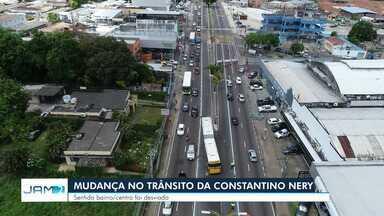 Trecho da Av. Constantino Nery é interditado, em Manaus; veja o que muda - Tráfego sofre alterações, assim como linhas de transporte coletivo.