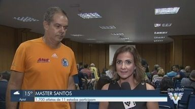 Master Santos de Vôlei reúne atletas de todo o Brasil - O evento acontece até o dia 21.