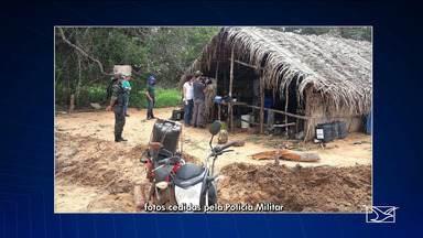 Trabalhadores são resgatados no interior do Maranhão - Polícia Militar e Ministério Público do Trabalho resgataram trabalhadores em fazenda no município de São Raimundo das Mangabeiras que estavam em situação análogo a escravidão.