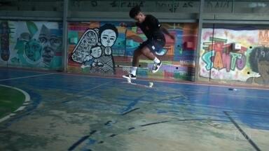 Santo Amaro, no Catete, tem skate, jiu-jitsu e muito mais - O skatista Ademar Lucas, que é cria da comunidade, mostra moradores e atrações do Santo Amaro.