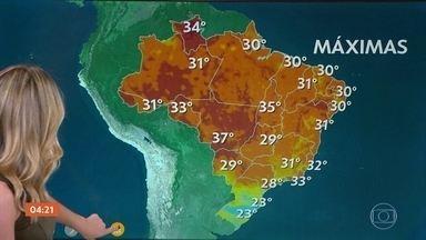 Pode chover forte no Centro-Oeste nesta terça-feira (23) - No Norte do país, a chuva aperta mais em parte do Amapá e Pará. Chove também no Nordeste. Confira como vai ficar o tempo em todo o país.