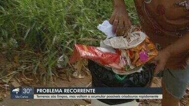Após limpeza, terrenos estão sujos novamente em Araraquara - Problema recorrente prejudica na epidemia de dengue enfrentada pela cidade.