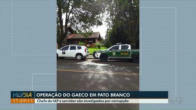 Chefe e servidor do IAP de Pato Branco são investigados por corrupção - O Gaeco fez uma operação de combate ao crime organizado.