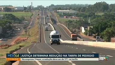Justiça manda reduzir o valor do pedágio - Concessionárias Caminhos do Paraná e Viapar vão ter que reduzir as tarifas do pedágio.
