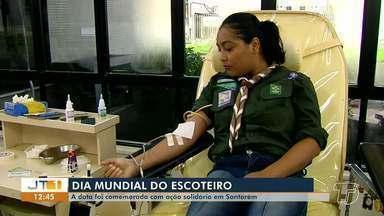 Dia Mundial do Escoteiro é marcado com doação coletiva de sangue no Hemopa em Santarém - Ação solidária ocorreu nesta terça-feira (23).