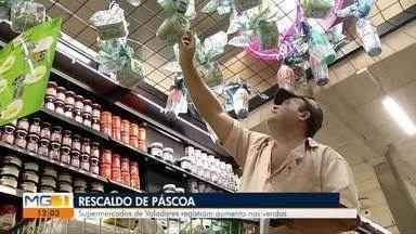 Supermercados de Valadares aumentam vendas após Páscoa - Muitos comerciantes mantiveram produtos típicos do período nas prateleiras.