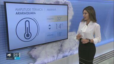 Confira a previsão do tempo para a região na quarta-feira - Confira a previsão do tempo para a região na quarta-feira