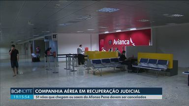 51 vôos do Afonso Pena devem ser cancelados até domingo (28) - Os vôos são da companhia Avianca, que está em recuperação judicial.