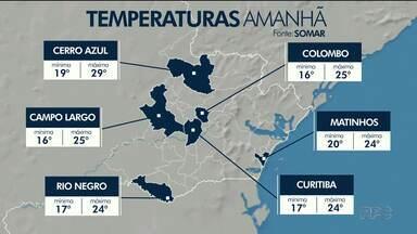 Chuva fraca pela manhã e abertura de sol na parte da tarde em Curitiba e região - Temperatura não sobre muito nesta quarta-feira.