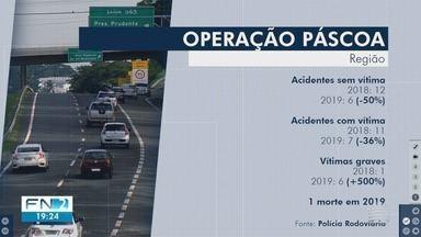 Acidentes no Oeste Paulista têm queda durante a operação Paixão de Cristo - Uma morte foi registrada nas rodovias da região.