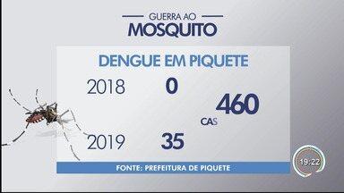 Idoso de 71 anos morre vítima de dengue em Piquete - Exames laboratoriais confirmaram a causa da morte, segundo a prefeitura. óbito foi na madrugada desta terça (23).