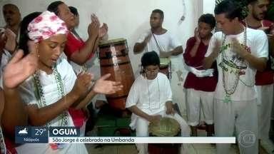 Festa nos terreiros comemora a festa de Ogum - No dia 23 de abril, São Jorge também é celebrado na Umbanda.