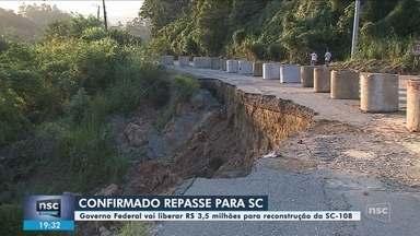 Governo confirma repasse de R$ 3,5 milhões para restauração de trecho da SC-108 - Governo confirma repasse de R$ 3,5 milhões para restauração de trecho da SC-108 em Guaramirim