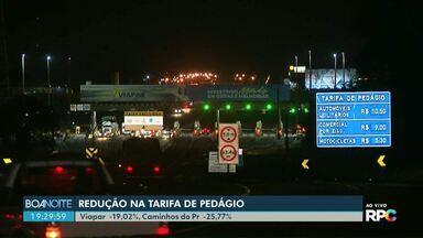 Tarifas de pedágio de três concessionárias do Paraná devem ser reduzidas - As novas tarifas nas praças da Rodonorte começam a valer já no próximo sábado.