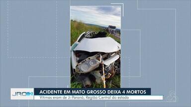 Quatro pessoas de Rondônia morrem em rodovia em MT - Vítimas do acidente eram de Ji-Paraná.