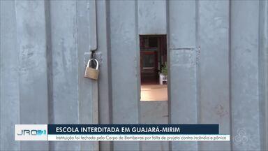 Escola é interditada por falta de projeto contra incêndio - Não há previsão de retorno das aulas em Guajará-Mirim.