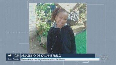 Suspeito de matar menina Kauane confessa autoria do crime em Mongaguá - Suspeito disse que tirou criança do quarto dela e a matou após ficar 'descontrolado' devido a desentendimento em festa. Polícia acredita que menina foi estuprada, mas homem nega.