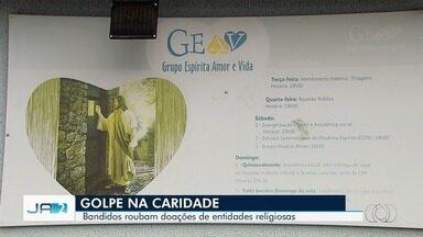 Golpista usa nome de instituição de caridade para pegar dinheiro que ia ser doado em Goiás - Golpe que está sendo aplicado na capital.