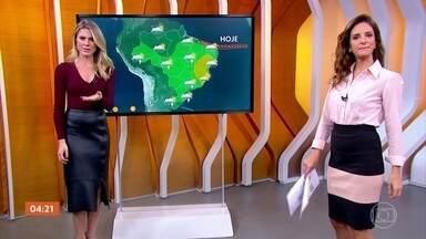 Previsão é de chuva nesta quarta-feira (24) no RJ e em SP - A previsão é chuva em quase todo o país nesta quarta-feira (24).