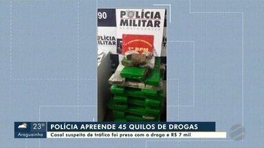 Polícia prende casal e apreende 45 quilos de drogas além de R$ 7 mil em dinheiro - Polícia prende casal e apreende 45 quilos de drogas além de R$ 7 mil em dinheiro