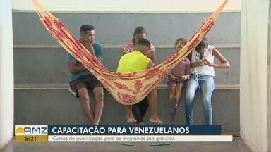 Imigrantes venezuelanos passam por cursos gratuitos de qualificação - Cursos são ministrados pelo Cetam.