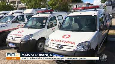 Governo do estado entrega novas ambulâncias, viaturas e carros para transportar presos - Entrega aconteceu na manhã desta quarta-feira (28).