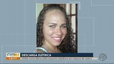 Mulher morre após levar choque em máquina de costura em Vertentes - Jéssica Silva foi socorrida e levada para um hospital em Toritama, mas já chegou à unidade de saúde sem vida.