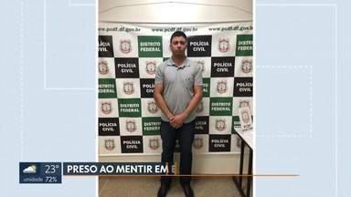 Homem é preso ao mentir em entrevista de visto - Segundo a polícia, ele pagou R$ 5 mil por documentos falsos de faculdade, imposto de renda e extratos bancários que apresentou na Embaixada dos Estados Unidos.