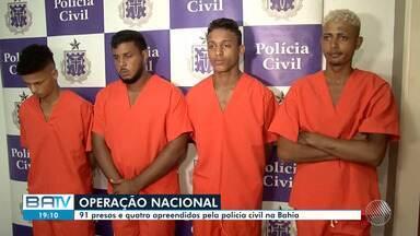 Destaques do dia: Polícia Civil prende 91 pessoas durante operação na Bahia - Confira outros fatos que marcaram a quarta-feira (24).