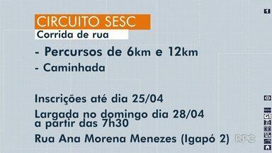 Inscrições para o Circuito Sesc de corridas terminam nesta quinta-feira (25) - Os interessados podem se inscrever em percursos de 6 km e 12 km. A corrida será realizada no domingo (28).