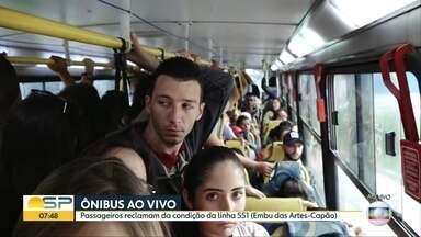 Passageiros de Embu das Artes reclamam de condições de linhas e ônibus - Linhas 551 e 128 da EMTU são citadas pelas pessoas