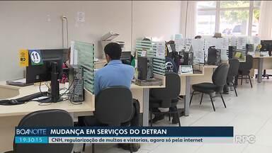 Detran-PR muda forma de solicitação de alguns serviços - Alguns serviços só poderão ser solicitados pela internet.