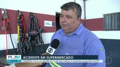 Operário morre ao cair de altura de dez metros em Campos e sindicato acusa falta de EPI - Assista a seguir.