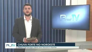 Defesa Civil emite alerta de chuva forte para Itaocara e Aperibé, no Noroeste Fluminense - Assista a seguir.