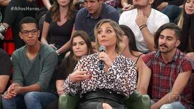 Heloísa Perrisé explica hábito de orar antes das refeições - Serginho relembra momento da época da peça 'Cócegas'