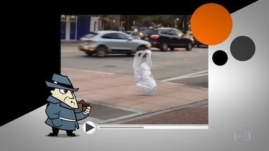 Detetive Virtual investiga vídeo de saco plástico 'andando pela rua' - O público ficou intrigado com a cena e quer saber se é verdade ou truque. O que você acha?