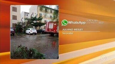 Temporal causa estragos neste domingo em Sorocaba - Temporal causou estragos neste domingo (28) em Sorocaba (SP).