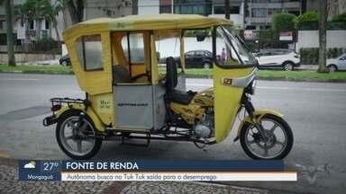Moradora de Santos inova para gerar renda após ficar desempregada - Autônoma busca no Tuk Tuk saída para o desemprego.