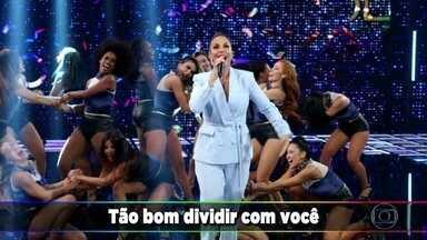 Ivete Sangalo canta 'Tempo de Alegria' - Ela atende ao pedido de Fernanda Gentil e deixa um recado para a amiga