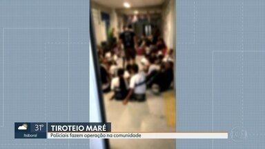 Policiais civis da CORE fazem operação na Maré - Crianças da Orquestra da Maré do Amanhã Mirim precisaram se esconder nos corredores, e as aulas foram suspensas.